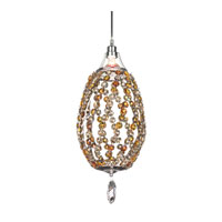 Schonbek Twist 1 Light Pendant in Stainless Steel and Ocelot Swarovski Elements Trim TW0511OCE