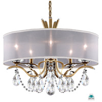 Schonbek VA8305N-22A1 Vesca 5 Light 24 inch Heirloom Gold Chandelier Ceiling Light in White Clear Spectra