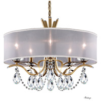 Schonbek VA8305N-22H1 Vesca 5 Light 24 inch Heirloom Gold Chandelier Ceiling Light in White Clear Heritage