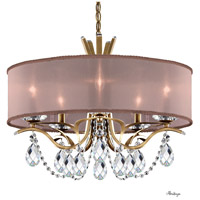 Schonbek VA8305N-22H3 Vesca 5 Light 24 inch Heirloom Gold Chandelier Ceiling Light in Vesca Heritage Vesca Bronze