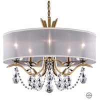 Schonbek VA8305N-22S1 Vesca 5 Light 24 inch Heirloom Gold Chandelier Ceiling Light in White Clear Swarovski