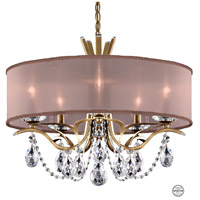 Schonbek VA8305N-22S3 Vesca 5 Light 24 inch Heirloom Gold Chandelier Ceiling Light in Vesca Swarovski Vesca Bronze