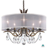 Schonbek VA8305N-23A1 Vesca 5 Light 24 inch Etruscan Gold Chandelier Ceiling Light in Vesca Spectra Vesca White