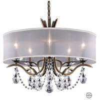 Schonbek VA8305N-23S1 Vesca 5 Light 24 inch Etruscan Gold Chandelier Ceiling Light in Vesca Swarovski Vesca White