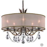 Schonbek VA8305N-23S2 Vesca 5 Light 24 inch Etruscan Gold Chandelier Ceiling Light in Vesca Swarovski Vesca Gold