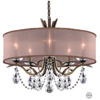 Schonbek VA8305N-23S3 Vesca 5 Light 24 inch Etruscan Gold Chandelier Ceiling Light in Vesca Swarovski Vesca Bronze