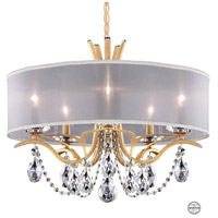 Schonbek VA8305N-26S1 Vesca 5 Light 24 inch French Gold Chandelier Ceiling Light in Vesca Swarovski Vesca White