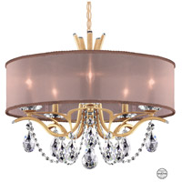 Schonbek VA8305N-26S3 Vesca 5 Light 24 inch French Gold Chandelier Ceiling Light in Vesca Swarovski Vesca Bronze
