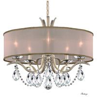 Schonbek VA8305N-48H2 Vesca 5 Light 24 inch Antique Silver Chandelier Ceiling Light in Vesca Gold Vesca Heritage