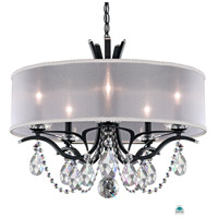 Schonbek VA8305N-59A1 Vesca 5 Light 24 inch Ferro Black Chandelier Ceiling Light in Vesca Spectra, Vesca White