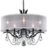 Schonbek VA8305N-59H1 Vesca 5 Light 24 inch Ferro Black Chandelier Ceiling Light in Vesca Heritage, Vesca White