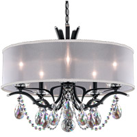 Schonbek VA8305N-59S1 Vesca 5 Light 24 inch Ferro Black Chandelier Ceiling Light in White Clear Swarovski