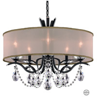 Schonbek VA8305N-59S2 Vesca 5 Light 24 inch Ferro Black Chandelier Ceiling Light in Gold Clear Swarovski