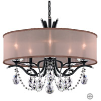 Schonbek VA8305N-59S3 Vesca 5 Light 24 inch Ferro Black Chandelier Ceiling Light in Bronze Clear Swarovski