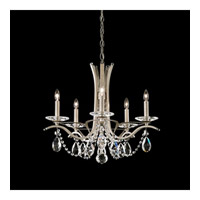 Schonbek Vesca 5 Light Chandelier in Antique Silver and Swarovski Elements Crystal VA8355N-48S