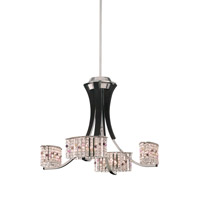 Schonbek Valcour 4 Light Chandelier in Polished Silver and Alyssum Gemcut Trim SA6064N-40AL