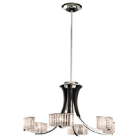 Schonbek Valcour 6 Light Chandelier in Polished Silver and Clear Gemcut Trim SA6066N-40M