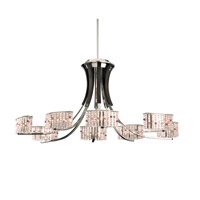 Schonbek Valcour 8 Light Chandelier in Polished Silver and Alyssum Gemcut Trim SA6068N-40AL