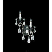 Schonbek Versailles Rock Crystal 2 Light Wall Sconce in Heirloom Bronze and Clear Rock Trim 2457-76