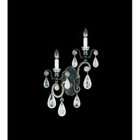 Schonbek Versailles Rock Crystal 2 Light Wall Sconce in Heirloom Bronze and Clear Rock Trim 2458-76