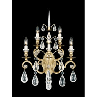 Versailles Rock Crystal 5 Light 10 inch Heirloom Gold Wall Sconce Wall Light