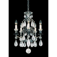 Schonbek Versailles Rock Crystal 5 Light Chandelier in Heirloom Bronze and Clear Rock Trim 2469-76