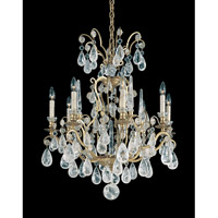 Schonbek Versailles Rock Crystal 8 Light Chandelier in Heirloom Gold and Clear Rock Trim 2471-22