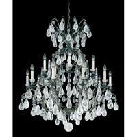Schonbek Versailles Rock Crystal 15 Light Chandelier in Heirloom Bronze and Clear Rock Trim 2473-76