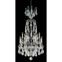 Versailles Rock Crystal 16 Light 29 inch Etruscan Gold Chandelier Ceiling Light