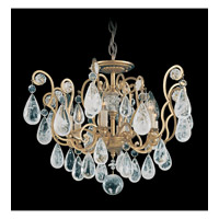 Versailles Rock Crystal 6 Light 21 inch Heirloom Gold Flush Mount Ceiling Light