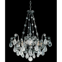 Schonbek Versailles Rock Crystal 8 Light Chandelier in Antique Pewter and Clear Rock Trim 2487-47
