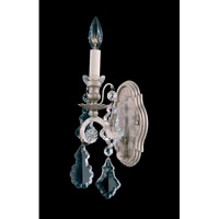 Schonbek Versailles 1 Light Wall Sconce in Antique Silver and Clear Heritage Handcut Trim 2756-48