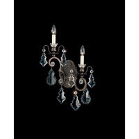 Schonbek Versailles 2 Light Wall Sconce in Heirloom Bronze and Clear Heritage Handcut Trim 2757-76