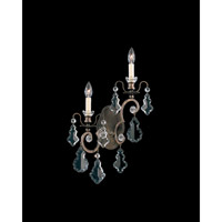 Schonbek Versailles 2 Light Wall Sconce in Heirloom Bronze and Clear Heritage Handcut Trim 2758-76