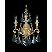 Schonbek Versailles 2 Light Wall Sconce in Heirloom Gold and Clear Heritage Handcut Trim 2761-22