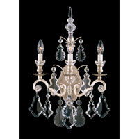 Schonbek Versailles 3 Light Wall Sconce in Antique Silver and Clear Heritage Handcut Trim 2762-48