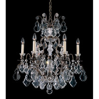 Schonbek Versailles 7 Light Chandelier in Bronze Umber and Clear Heritage Handcut Trim 2770-75