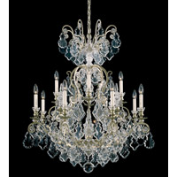 Schonbek Versailles 13 Light Chandelier in Heirloom Silver and Clear Heritage Handcut Trim 2772-44