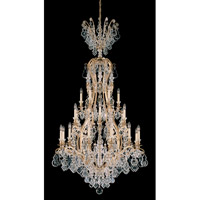 Schonbek Versailles 25 Light Chandelier in Heirloom Gold and Clear Heritage Handcut Trim 2783-22