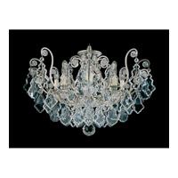 Schonbek Versailles 8 Light Chandelier in Antique Silver and Clear Heritage Handcut Trim 2785-48