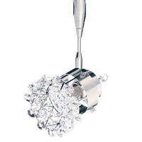 Schonbek Vertex 1 Light Spotlight in Stainless Steel and Crystal Swarovski Elements Trim VC3S42S