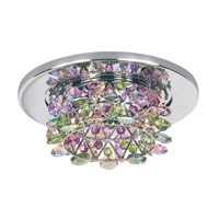 Schonbek Vertex 1 Light Recessed Light in Stainless Steel and Waterlily Swarovski Elements Trim VCR432WAT
