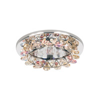 Schonbek Vertex 1 Light Recessed Light in Stainless Steel and Blush Swarovski Elements Trim VCR451BLU