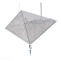 Schonbek Vertex 9 Light Pendant in Stainless Steel and Clear Spectra Crystal Trim VM2318A