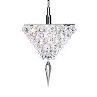 Schonbek Vertex 1 Light Pendant in Stainless Steel and Crystal Swarovski Elements Trim VR0607S