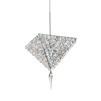 Schonbek Vertex 4 Light Pendant in Stainless Steel and Moondust Swarovski Elements Trim VR0810MOO