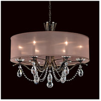 Schonbek VA8306N-59A1 Vesca 6 Light 28 inch Ferro Black Chandelier Ceiling Light in Vesca Spectra, Vesca White