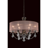 Schonbek Vesca 6 Light Chandelier in Heirloom Bronze and Spectra Crystal VA8306N-76A3