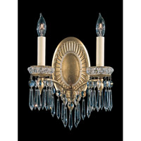 Schonbek Victorian 2 Light Wall Sconce in Heirloom Gold and Clear Heritage Handcut Trim 5742-22