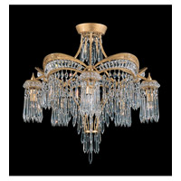 Schonbek Victorian 5 Light Semi Flush Mount in Heirloom Gold and Clear Heritage Handcut Trim 5745-22 photo thumbnail